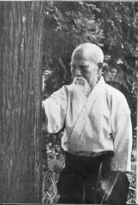 О-сенсей Морихей Уэсиба, основатель айкидо.